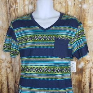 SGR geometric bright patterned summer t shirt